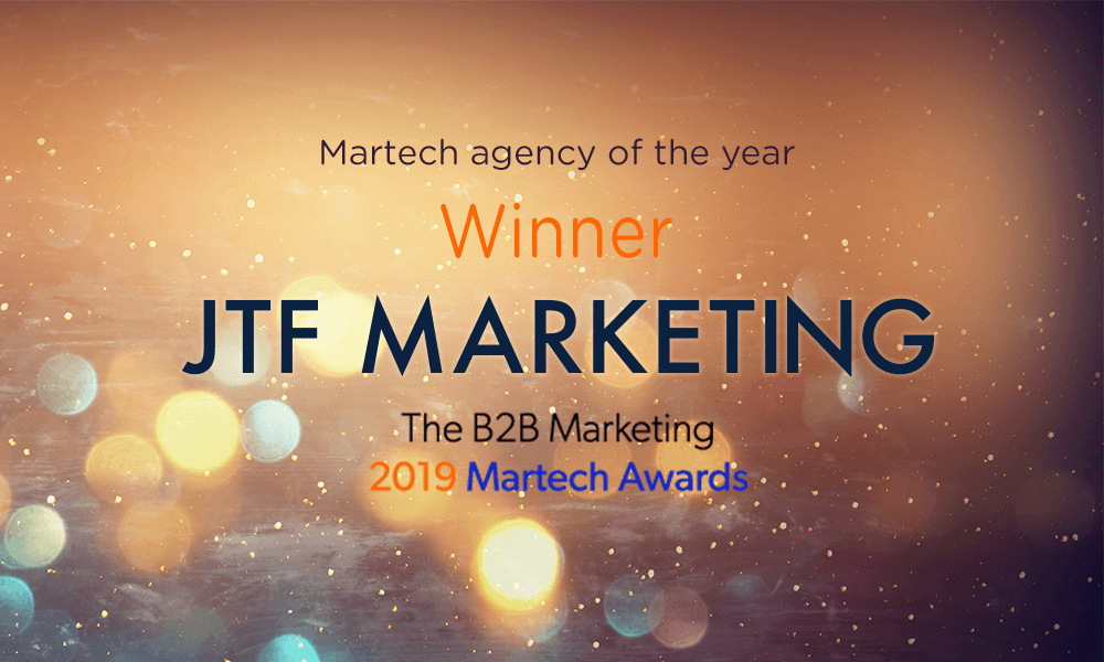JTF Agency - Martech Agency of the Year B2B Marketing
