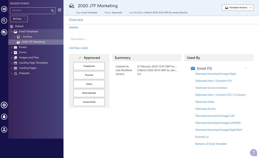 Marketo email templates